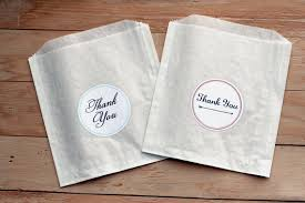wedding treat bags wedding favor donut bags lading for