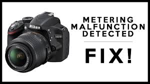 how to fix a dropped nikon dslr metering malfunction detected