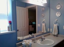 diy bathroom mirror frame ideas glass three shelves attached to