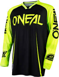 oneal motocross jersey o neal mayhem lite blocker motocross jerseys black neon yellow