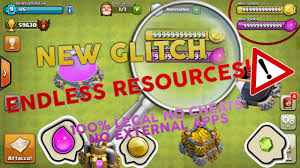 clash of clans glitch 2017 bug endless resources 100 legal no