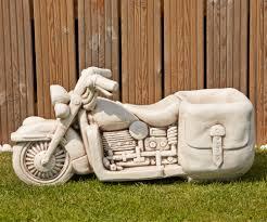harley davidson motorbike planter large garden ornament