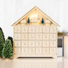 christmas shopping guide home decor entertaining australia post led wooden village advent calendar from australia post s online shop