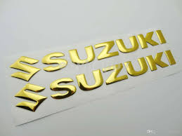suzuki emblem 2018 motorcycle 3d 20cm gold decal sticker fairing body fuel tank