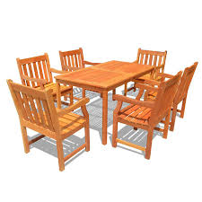 shop vifah balthazar 7 piece natural eucalyptus patio dining set