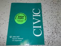 2006 2007 honda civic gx service shop repair manual supplement