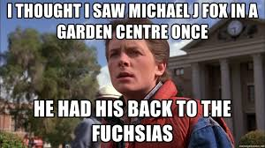 Michael J Fox Meme - i thought i saw michael j fox in a garden centre once he had his