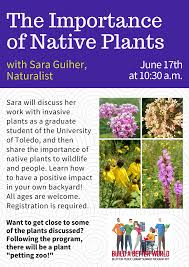 postponed until the fall the importance of native plants with