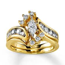 yellow gold bridal sets diamond bridal set 1 ct tw marquise cut 14k yellow gold