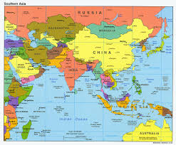 Where Is India On The Map by Map Of South New Where Is Singapore On A Of Asia Where Is
