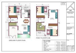 800 sqft duplex plan house concept