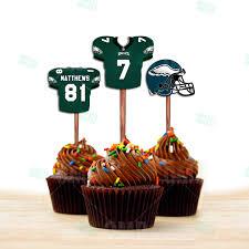 philadelphia eagles home decor sports invites philadelphia eagles cupcake toppers assorted