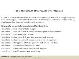 Compliance Officer Resume Sample by Top5complianceofficercoverlettersamples 150618082023 Lva1 App6891 Thumbnail 4 Jpg Cb U003d1434615676
