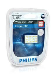 philips led 12957 6000k reading light 12v 1w in car
