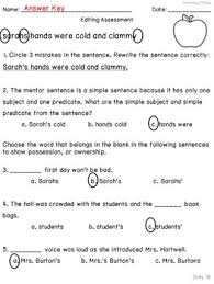 mentor sentences unit vol 1 first 10 weeks grades 3 5 by ideas
