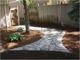 backyards outstanding grassless backyard landscaping ideas mulch