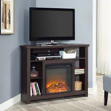 corner tv cabinet with electric fireplace corner fireplace tv stand ebay