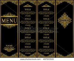 Designs Of Menu Card Vintage Design Restaurant Menu Wine List Stock Vector 486602596