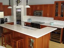 granite countertop kitchen cabinets red backsplash designs for