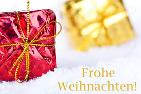 the german greetings frohe weihnachten which means