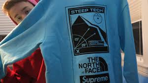 North Face Jacket Meme - the north face x supreme crewneck baby beluga i feel like pablo