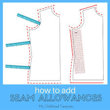 how to add seam allowance to sewing patterns treasurie