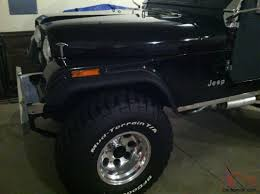 jeep cj5 restored 350 v8 perfect black paint u0026 black