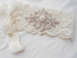 wedding garters wedding garter set ivory or lite ivory stretch lace bridal garter