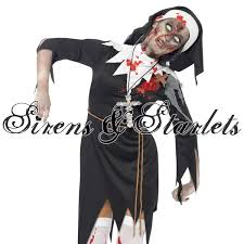 gothic halloween costumes ladies new dead zombie nun halloween gothic fancy dress