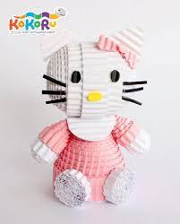 cara membuat origami hello kitty 3d pink hello kitty kokoru kokoru cartoon character pinterest