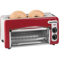 12 Slice Toaster Hamilton Beach Toastation 2 In 1 2 Slice Toaster U0026 Oven In Red