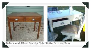 shabby chic writing desk restyled vintage before and after shabby chic white painted desk