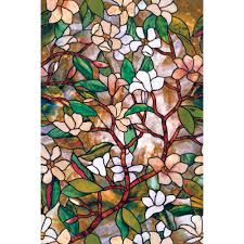 Home Decorator Stores Artscape 24 In X 36 In Magnolia Decorative Window Film 01 0113