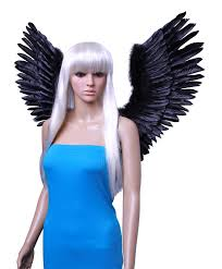 angel wings halloween amazon com fashionwings tm black open swing v shape costume