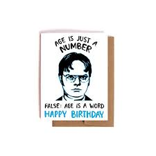 dwight schrute birthday card the office bday card