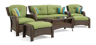 How To Fix Wicker Patio Furniture - sawyer 6pc resin wicker patio furniture conversation set green