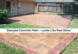 Concrete Backyard Ideas Stamped Concrete Patio Designs Color Stamped Concrete Designs