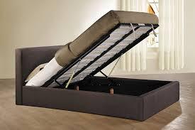Ottoman Storage Bed Double by Birlea Brooklyn 4ft6 Double Fabric Ottoman Bed Chocolate Amazon