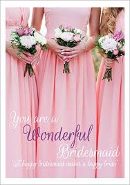 thank you bridesmaid cards wedding thank you cards funky pigeon