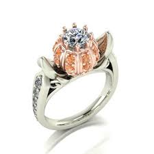 cinderella engagement ring 14 karat white and gold diamond cinderella ring 3 750