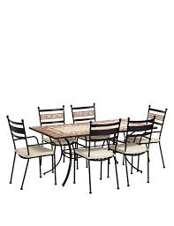 terracotta mosaic table u0026 6 chairs m u0026s