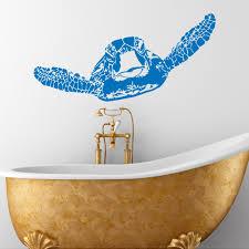 bathroom sea decor promotion shop for promotional bathroom sea turtle sticker sea animals tortoise tortoiseshell decals bathroom bedroom wall art nautical marine sea ocean home decor j051