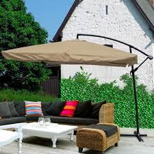 Patio Umbrella And Stand by 9x9 U0027 Square Aluminum Offset Umbrella Patio Outdoor Shade W Cross