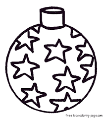 a star bauble decorating a christmas tree coloring page rainbows