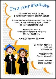 this invitation wording for kindergarten graduation