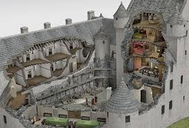 historical castles kilchurn castle illustrated historical reconstruction another
