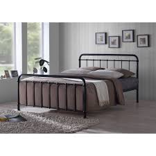traditional hospital style 4ft small double black metal bed frame