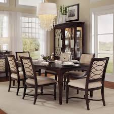 steve silver 7 piece marseille marble top dining table set dark