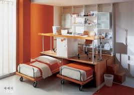 Desk With Bed Double Desk Home Office With Creative Orange Ikea Adjustable Twin