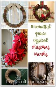 10 gorgeous and nature inspired rustic christmas wreaths gym